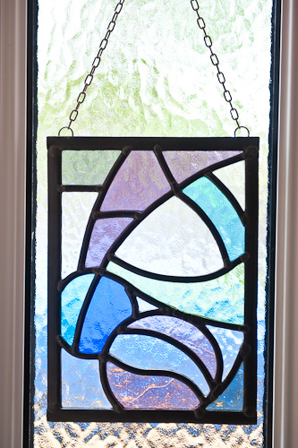 Stained glass macintosh hanging