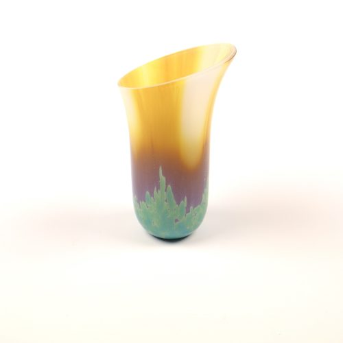 Small fused glass vase