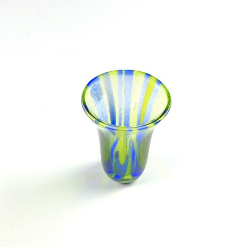 Blue and green glass vase