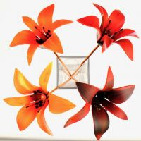 Fused glass lilies